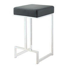 Coaster Geo Counter Stool, Black