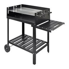 vidaXL Charcoal Barbecue Stand, 2-Wheel