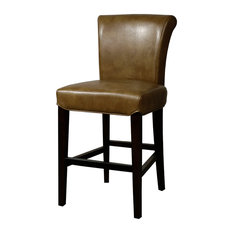 New Pacific Direct Inc. - Bentley Bonded Leather Counter Stool, Molasses - Bar Stools and Counter Stools