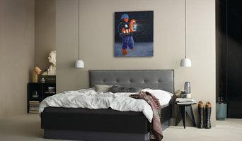Kunst in Wohn- und Schlafzimmer