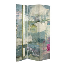 6' Tall Double Sided Mineral Smoke Canvas Room Divider