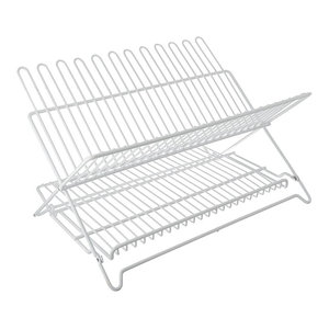 Dish Rack Charcoal With Drying Mat