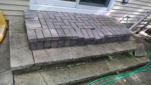 Problematic Paver Over Concrete Slab Steps
