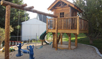 Log and Reclaimed Wood Playhouse