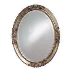 Queen Ann Mirror With Antique Silver Finish