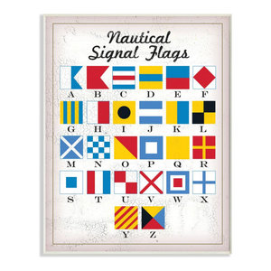 10 x 15 The Stupell Home D/écor Collection Laguna Beach Nautical Flags Wall Plaque Art