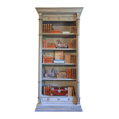 Neoclassical Inspired Columnar Augustus Bookcase