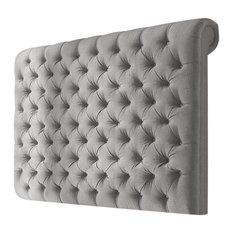Elwood Linen Floorstanding Headboard, Grey, 183 cm
