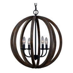 Feiss F2935/4 Allier 4 Light Large Foyer Chandelier