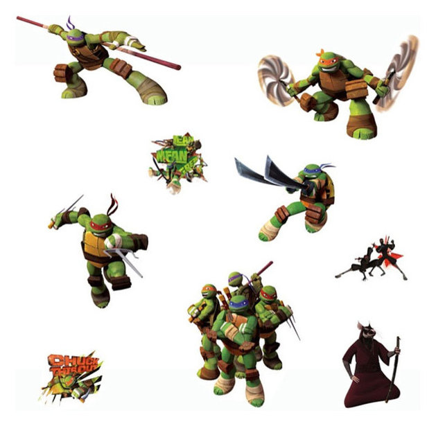 Teenage mutant ninja turtles wall stickers tmnt decals