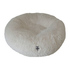 Bessie and Barnie - Bessie and Barnie Bagel Bed, Snow White, Small - Dog Beds