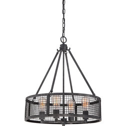 Beautiful Industrial Pendant Lighting by Quoizel