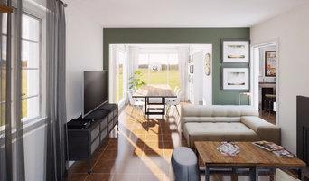 Proposition 3D d'une pièce à vivre