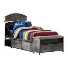 Hillsdale Urban Quarters Full Panel Storage Bed with Bench in Black