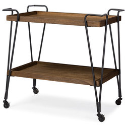 Industrial Bar Carts by Baxton Studio