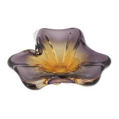 Novica Open Blossom Art Glass Centerpiece