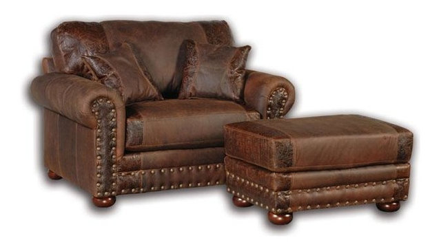 Perfect Western Rustic Leather Oversized Chair