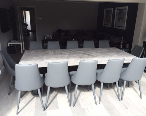 2.4 Metre Mid Grey Bespoke Polished Concrete Dining Table - Products