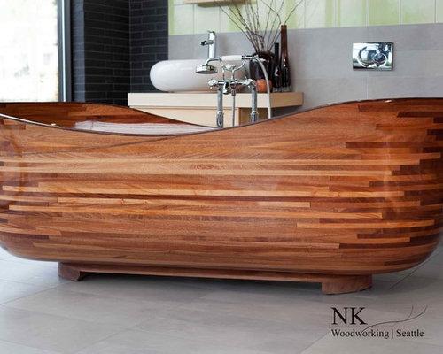 Wood Bathtub - NK Woodworking / Seattle - Bathtubs