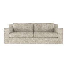 Mulberry 6' Crushed Velvet Sofa Oyster Classic Depth