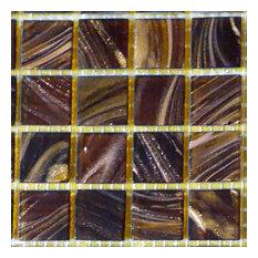 "12""x12""x.16"" Glass Mosaic Tile DIY Kit, Dark Brown, 10SqFt. Per Case"