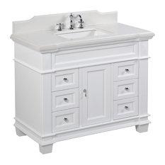 Elizabeth Bath Vanity Base: White 42-inch Top: Quartz