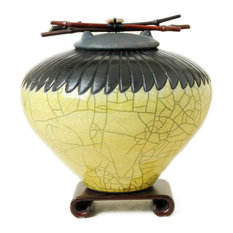 Standard Feather Urn, Yellow