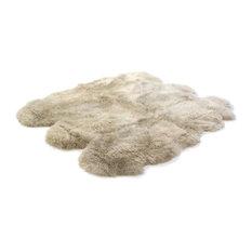 Long Wool Sheepskin Sexto Rug, Stone