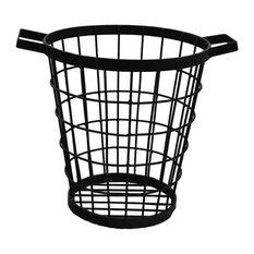 Black Wire Wastebasket