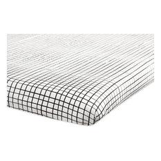Tuxedo Monochrome Grid Mini Crib Sheet