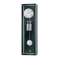 Rhea Regulator Wall Clock, Black