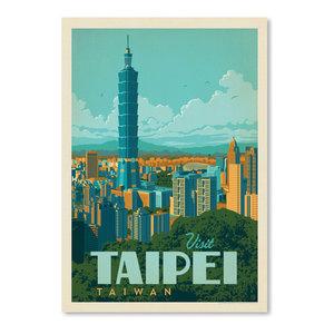 """Taiwan Taipei,"" Art Print, 12""x16""x0.1"""