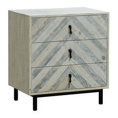 Reclaimed Lumber Chevron Nightstand