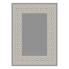 tayse rugs gaia greek key gray easycare runner rug