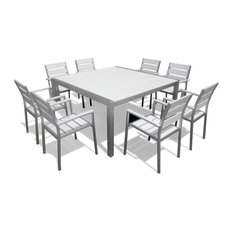 8 person outdoor dining table square mangohome outdoor patio furniture aluminum 9piece square dining table and chairs set 50 most popular 8person sets for 2018 houzz