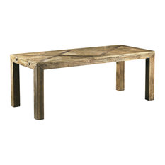Olmo Extendable Aged Elm Table, Large