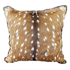 Genuine Axis Deer Hide Accent Pillows, 18'x18'