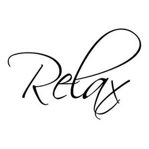 Relax Wall Sticker, Black, 60x120 cm