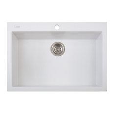 Single-Basin Drop-In Sink, Milk White