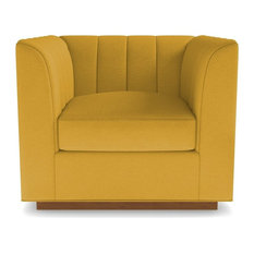 Nora Swivel Chair, Mustard
