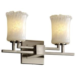 Justice Designs Veneto Luce Aero 2-Light Bath Bar, Brushed Nickel