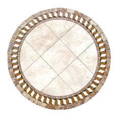 "Illusion Mosaic Stone Round Coffee Table, 30"""