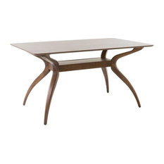 GDF Studio Mabel Natural Walnut Finish Wood Dining Table