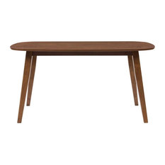 CorLiving Tiffany Hazelnut Brown Stained Wood Dining Table