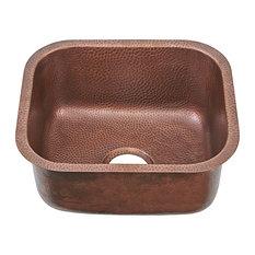 """Sisley 19"""" Undermount Copper Prep Kitchen Sink"""