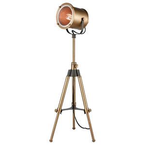 Ethan Tripod Lamp in Aged Brass