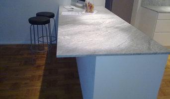 Carrara marble countertops installation