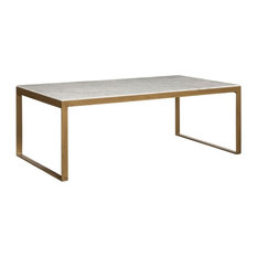 Sunpan 103448 Evert Coffee Table Rectangular High White