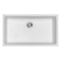 White Granite Composite Single Bowl Kitchen Sink