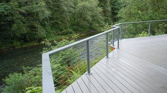 "Aluminum Cable Railing_Custom Powder Coat_36"" Deck Mount_"